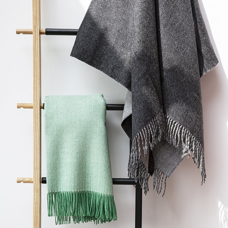 Simple Things - Baby Alpaca Throw Reversible - Charcoal/Grey