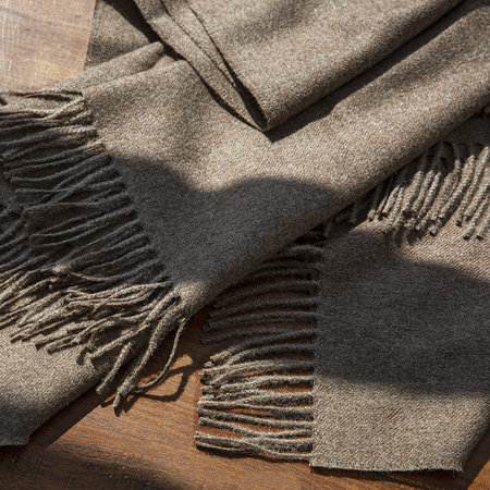 Simple Things - Alpaca Throw Natural - Cocoa