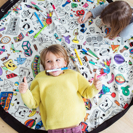 Play & Go - 2in1 Toy Storage and Play Mat - Colour Your Own