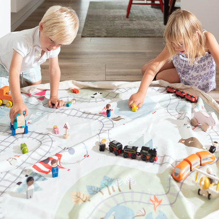 Play & Go - 2in1 Toy Storage and Play Mat - Map - Fantasy