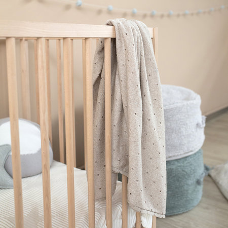 Lorena Canals - Biscuit Knitted Baby Blanket - 90x120cm - Dune White