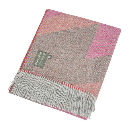 Simple Things - Alpaca Throw  - Ski - Pink/Orange