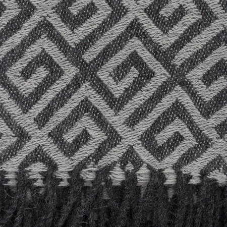 Simple Things - Baby Alpaca Throw Geometric - Grey
