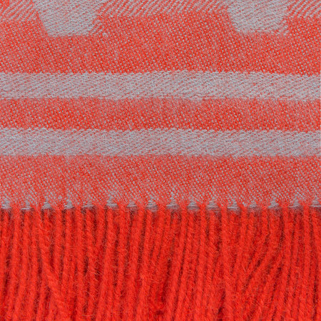 Simple Things - Baby Alpaca Throw - Triangle - Orange/Duck Egg