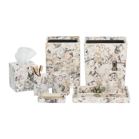 Pigeon & Poodle - Tramore Tissue Box - Oyster Shell