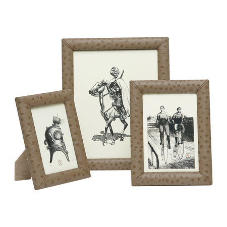"""Pigeon & Poodle - Witney Leather Frame - Oat - 4""""x6"""""""