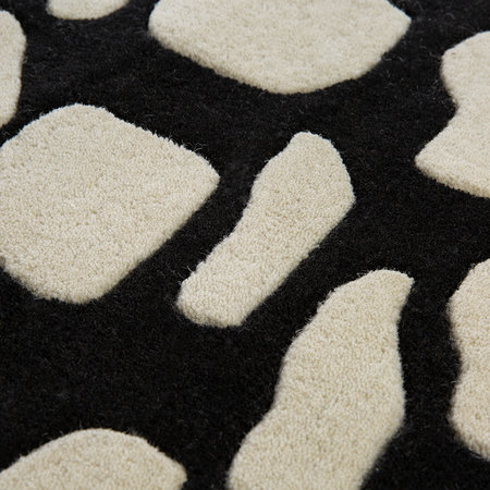 A by Amara - Animal Print Rug - Black/White - 140x200cm