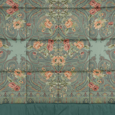 Etro - Poiters Clain Quilted Bedspread - Teal