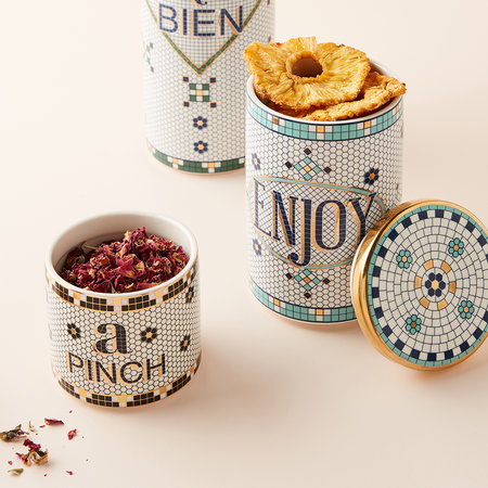 Anthropologie Home - Bistro Tile Spice Jar Pinch