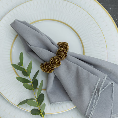 A by AMARA - Domed Wire Napkin Rings - Set of 4 - Gold