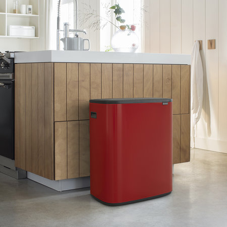 Brabantia - Bo Touch Bin - 2 x 30 Liter - Passion Red