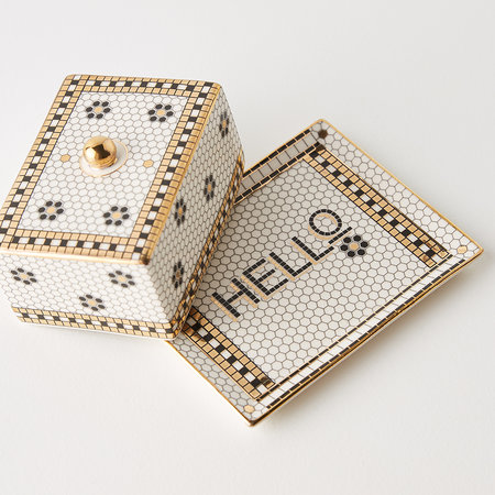 Anthropologie Home - Bistro Tile Butter Dish