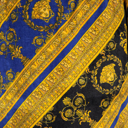 Versace Home - I Love Baroque Bathrobe - Black/Blue/Gold