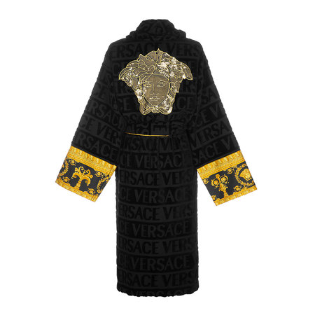 Versace Home - Barocco&Robe Bathrobe - Black/Gold/Bronze