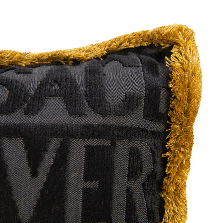 Versace Home - Logo Cushion - 45cm x 25cm - Black/Gold/Bronze