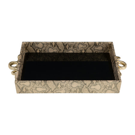 Luxe - Tray With Snake Handles - Gold