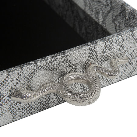 Luxe - Tray With Snake Handles - Silver