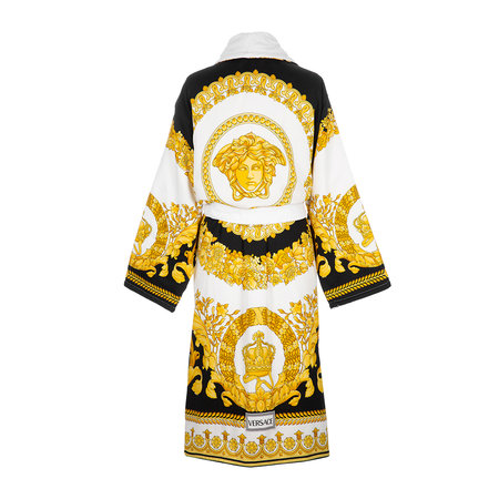 Versace Home - Barocco&Robe Bathrobe - Gold/White/Black