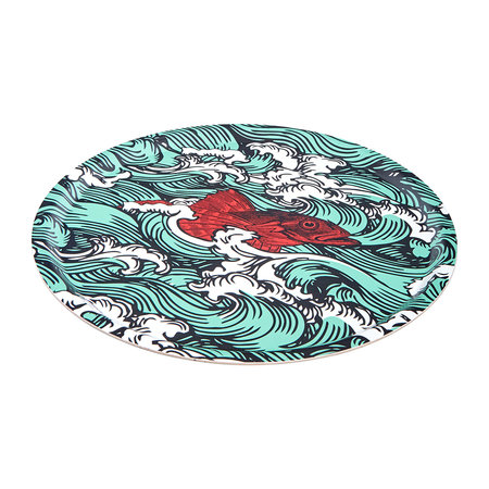 Gangzai - Safari Round Tray - Rasca Wave