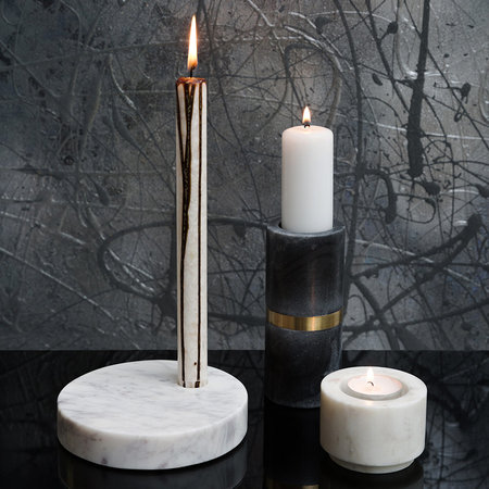 A by Amara - Black Marble Candle Holder