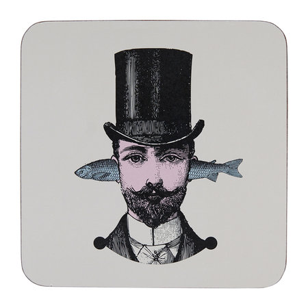 Gangzai - Arti Coasters - Set of 4 - Aristo Fish/ Miss Asparagus