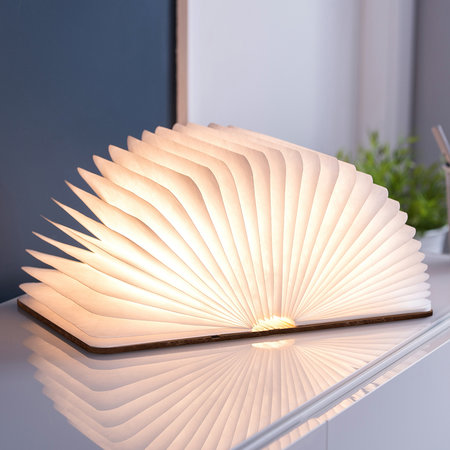 Gingko - Leather Smart Book Light - Brown - Large