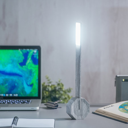Gingko - Octagon One Rechargeable Desk Light - Ash