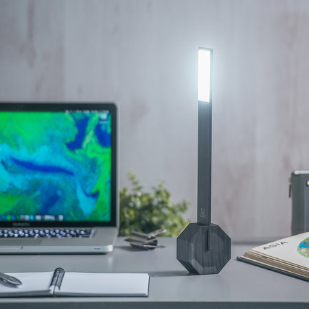 Gingko - Octagon One Rechargeable Desk Light - Black