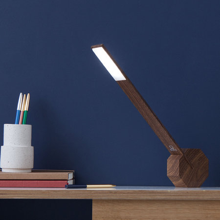 Gingko - Octagon One Rechargeable Desk Light - Walnut