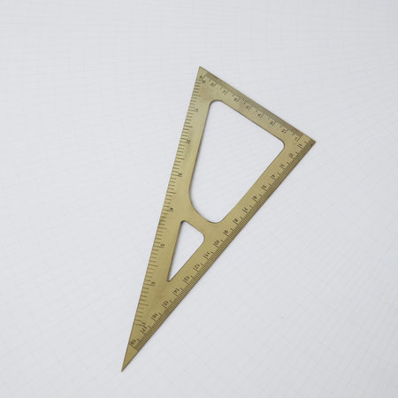 Monograph - Brass Triangular Ruler