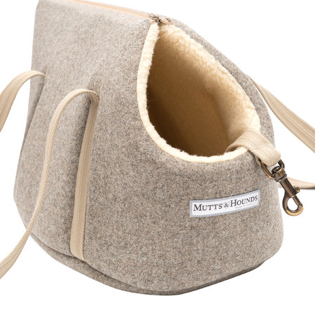 Mutts & Hounds - Tweed Dog Carrier - Gray - Medium