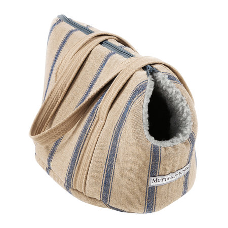 Mutts & Hounds - Nordic Stripe Dog Carrier - Navy - Small
