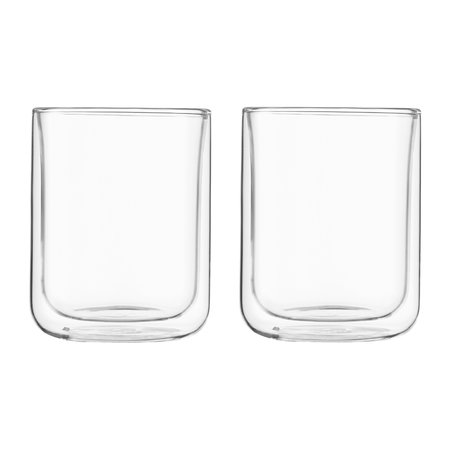 VIVA - Double Walled Classic Glass Tumbler - Set of 2