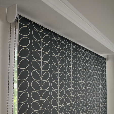 Orla Kiely - Linear Stem Roller Blinds - Cool Grey - 120x162cm