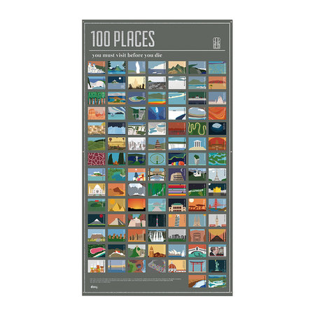 DOIY - 100 Must-Do Poster - 100 Places