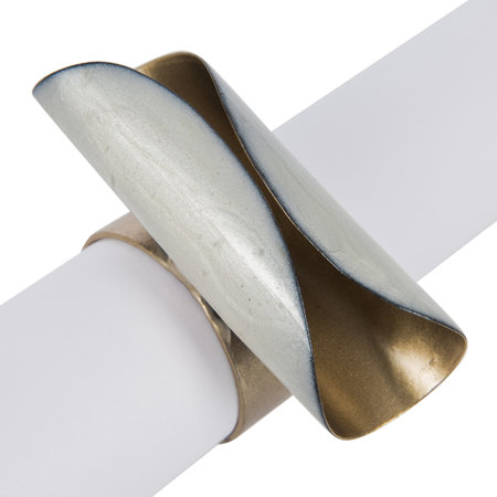 Luxe - Ivory Curl Napkin Ring - Set of 4