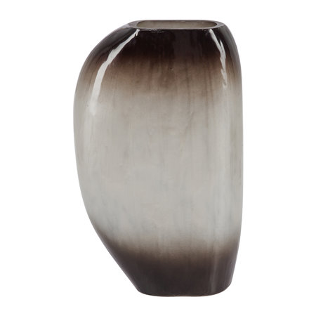A by AMARA - Vase Ovale Ombre Argent - Grand