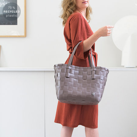 Handed By - Color Match Shopper Bag - Steel Gray