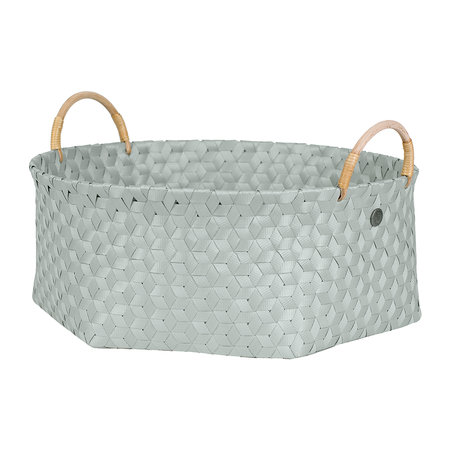 Handed By - Dimensional Round Basket with Rattan Handles - Eucalyptus - Extra Large
