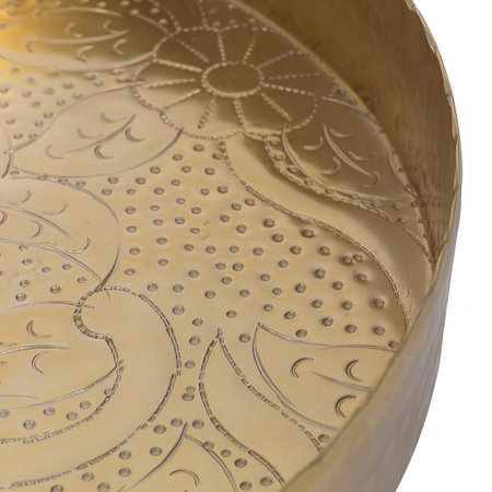 A by AMARA - Floral Decorative Metal Round Tray
