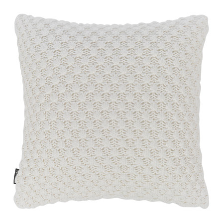 A by AMARA - Textured Knitted Pillow - 50x50cm - Ivory