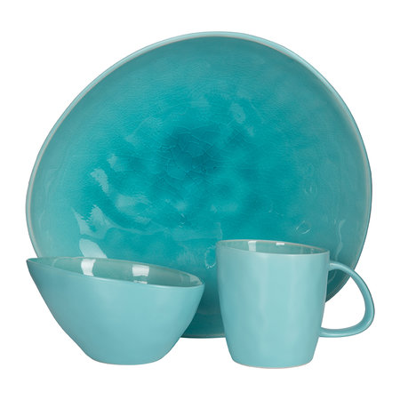 ASA - Beach Crackle Plate - Turquoise - Dinner Plate
