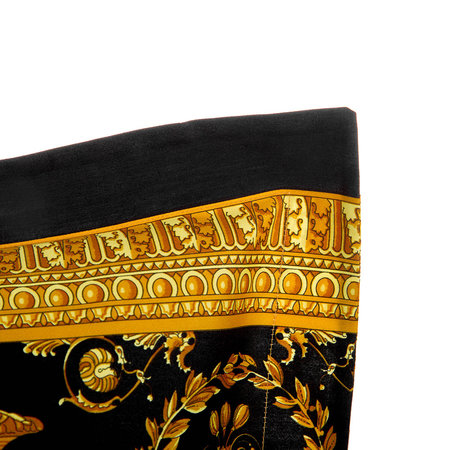 Versace Home - Barocco&Robe Double Face Reversible Pillow - Black/Gold/Blue