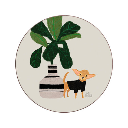 Avenida Home - Anne Bentley Dogs Coaster - Chihuahua