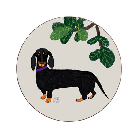 Avenida Home - Anne Bentley Dogs Coaster - Dachshund