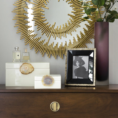"""Luxe - Snake Photo Frame - 5x7"""" - Gold"""