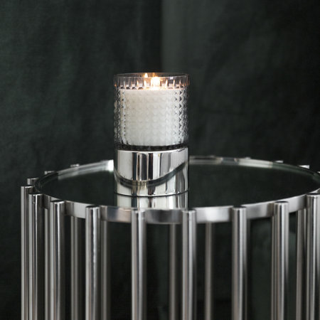 Luxe - Steel Mirror Table