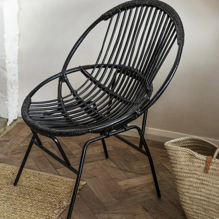 A by AMARA - Cane Chair - Black