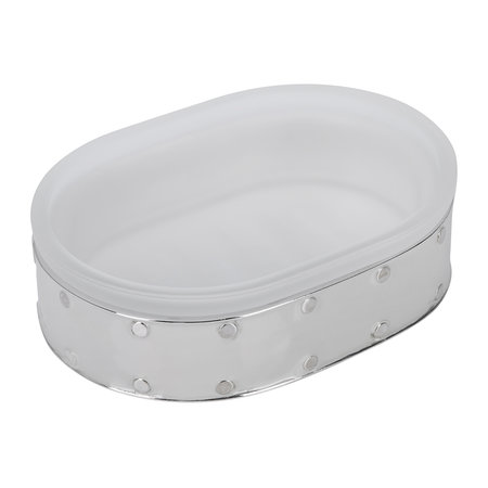 Mike + Ally - Aero Soap Dish - Gravel/Silver
