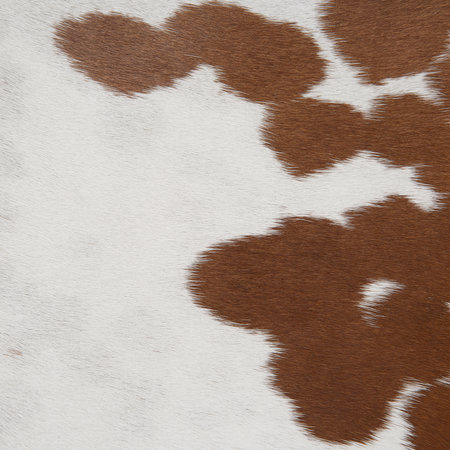 A by AMARA - Cowhide Seat Pad - Brown & White